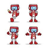 Karten-Maschinen-Roboter Lizenzfreie Stockfotografie