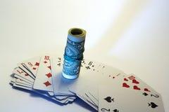 Karten mit Dollar Lizenzfreies Stockfoto