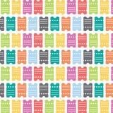 Karten-nahtloses Muster Stockfotos