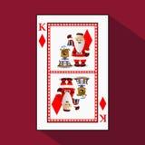 Karten-neues Jahr ` s Poker Abbildung lizenzfreie abbildung