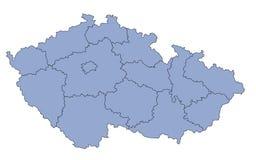 Karten-Tschechische Republik lizenzfreie stockfotos