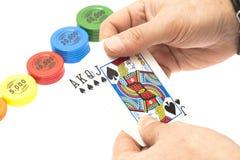 Karten und Chips Lizenzfreie Stockbilder