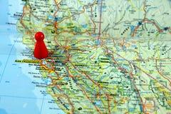 Karten von Kalifornien Lizenzfreie Stockbilder