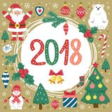 Karten-Weihnachten und neues Jahr stockfotos