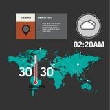 Karten-Wetter Widgets Lizenzfreies Stockfoto