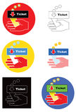 Kartenempfang Lizenzfreies Stockfoto