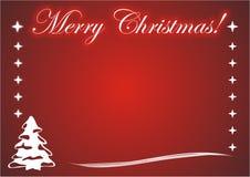 Kartenfotofeld der frohen Weihnachten Lizenzfreies Stockbild