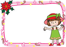 Kartengrenzrahmen der frohen Weihnachten Stockfoto