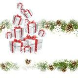 Kartengruß der weißen Weihnacht vektor abbildung