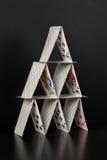 Kartenhaus Stockfoto