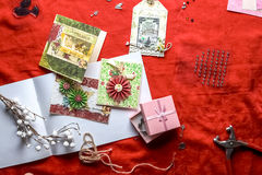 Kartenherstellung neuer Jahre Scrapbooking Stockbilder