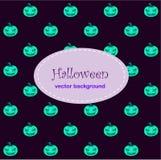 Kartenhintergrund mit Halloween-Neokürbis stock abbildung