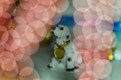 Kartenhund des neuen Jahres Lizenzfreie Stockfotografie