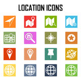 Kartenikonen GPS und Navigation Lizenzfreies Stockbild