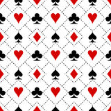 Kartenklagen-Symbolmuster Lizenzfreie Stockfotografie