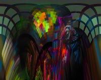 Kartenlocke Fractalphantasie der abstrakten digitalen modernen Artkarte des Verzierungshintergrundes vibrierende kreativ, künstle vektor abbildung