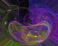 Kartenlocke Fractalphantasie der abstrakten digitalen Verzierungstapetenkarte vibrierende kreativ, künstlerisch, Eleganz, vektor abbildung