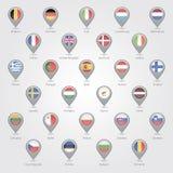 Kartenmarkierungen, welche die EU darstellen Lizenzfreie Stockfotos