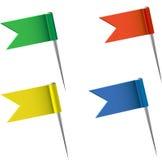 Kartenmarkierungsfahnen Stockfotos
