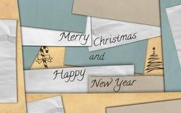 Kartenpapier der frohen Weihnachten lizenzfreies stockbild