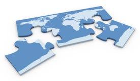 Kartenpuzzlespiel der Welt 3d Stockfotos