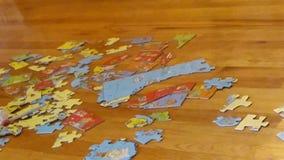 Kartenpuzzlespiel Vereinigter Staaten lizenzfreie stockfotografie