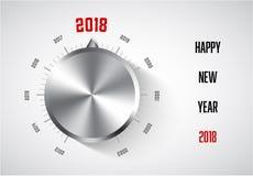 Kartenschablone des neuen Jahres 2018 Stockbild
