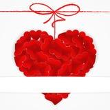 Kartenschablone mit großem rotem Herzen stock abbildung