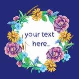Kartenschablone mit Platz für den Text gestaltet Stockfoto