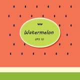Kartenschablonendesign mit Wassermelone Lizenzfreie Stockfotos