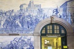 Kartenschalter in Sao Bento-Station Lizenzfreie Stockfotos