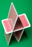 Kartenschloß Stockfoto