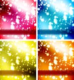 KartenSet. Set of abstract backgrounds Vector Royalty Free Illustration