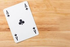 Kartenspiel Ace Stockfotografie