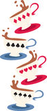 Kartenspiel-Schale Lizenzfreies Stockfoto