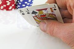 Kartenspielen lizenzfreies stockfoto