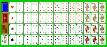 Kartenspielen. lizenzfreie abbildung