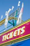 Kartenstand an der Messe Stockbilder