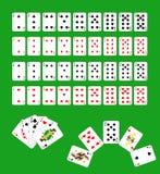 Kartenstapel Stockfoto
