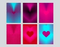 Kartenstapel mit Hintergrundillustration des Herzens Stock Abbildung
