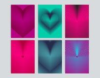 Kartenstapel mit Hintergrundillustration des Herzens Lizenzfreie Abbildung