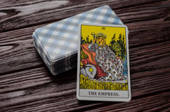 Kartenstapel-Tarock-Reiter-Waite Stockfoto