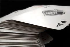 Kartenstapeles. Stockbilder