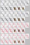 Kartenstapeles Stockbild