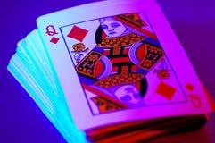 Kartenstapeles lizenzfreie stockfotografie