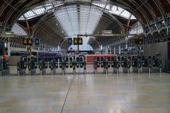 Kartentore an Station Londons Paddington Lizenzfreie Stockfotografie