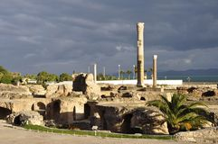 Karthago: Unesco-världsarvet med roman fördärvar av Epen arkivfoton