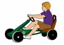 karting的男孩 免版税图库摄影