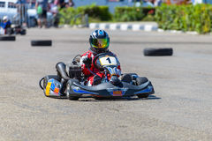 karting的种族 免版税库存照片