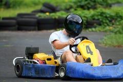 karting的飞行员 库存照片